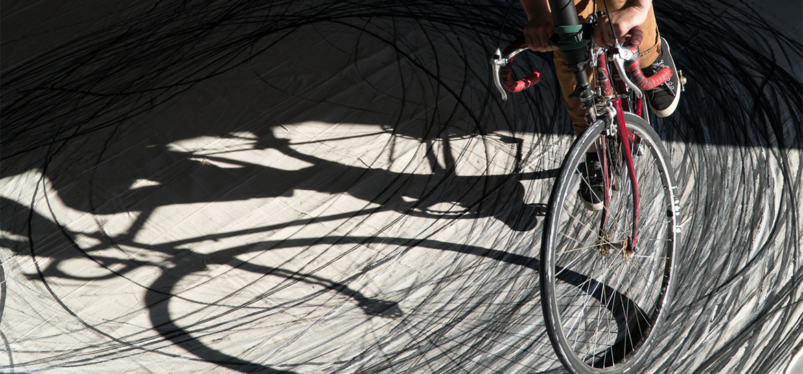 bicycle riding in circles
