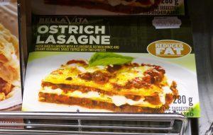 ostrich lasagne