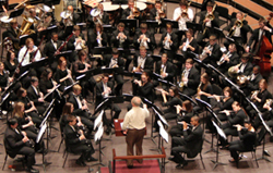 wind ensemble aerial photo from college band director convention