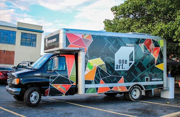UNCG Art truck on street