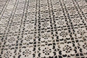 Detail of marble floor in San Miniato al Monte, Florence, Italy