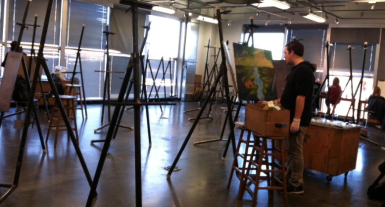 Artists in studio