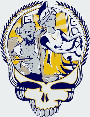 logo - a UNCG version of the Grateful Dead skull image