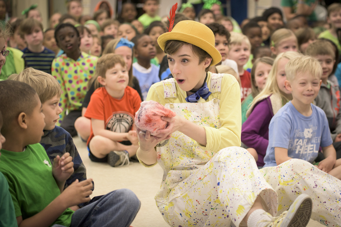 UNCG's Children's Theater performs Pinocchio at General Greene Elementary on April 2, 2015 (photo by Artisan Image)