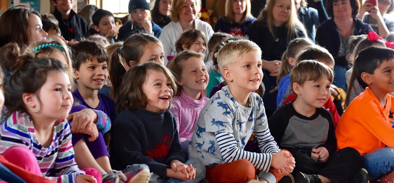 children sitting in group