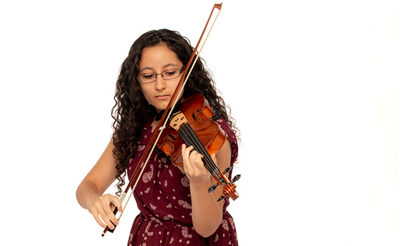 violin student portrait
