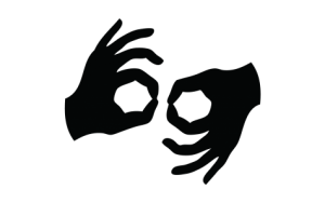 Image Description: The Hearing Loss Association of America logo for American Sign Language. The image is of two hands together.