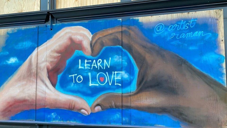 Photo: A mural in downtown Greensboro by artist Raman Bhardwaj