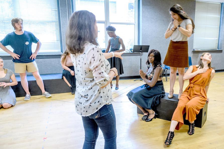 Musical Theatre Workshop Rehearsal