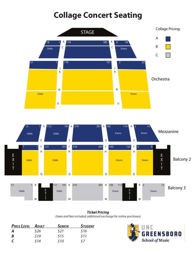 Collage Seating Diagram