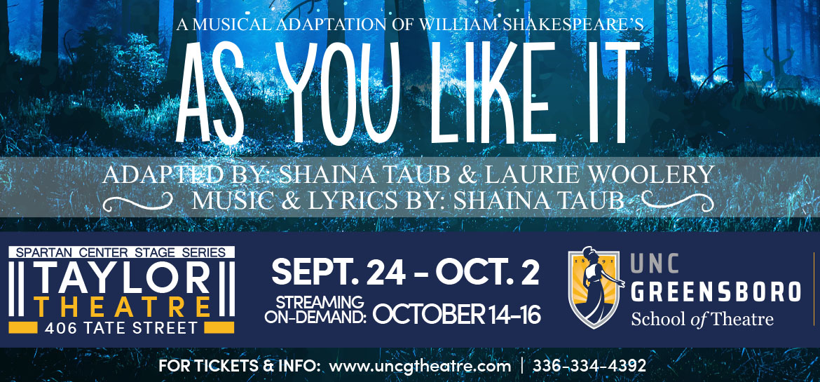 """poster for the musical """"As You Like It"""""""