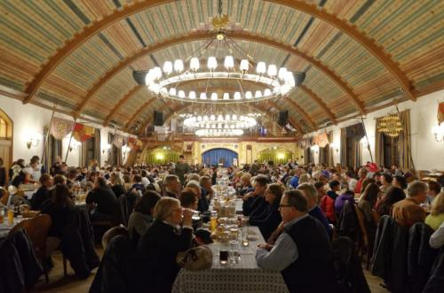 One of the large halls in the Hofbrauhaus