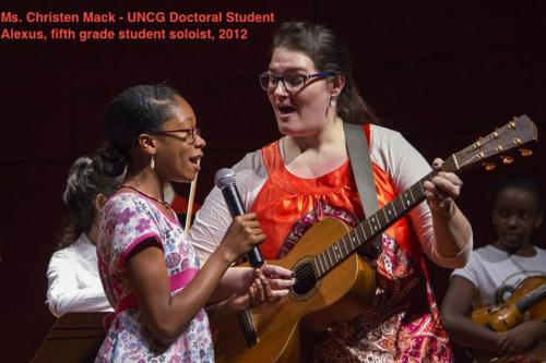 UNCG doctoral student teaching student
