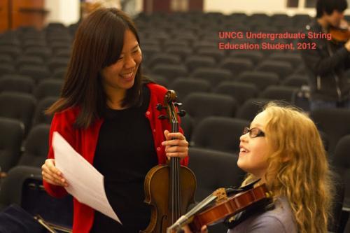 undergrad student teaches student