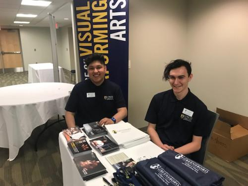 Bryan and Skylar welcome Juniors to the College of Visual and Performing Arts at UNCG.  Last week over 600 Juniors visited with us!